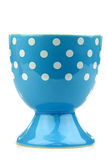 Colorful and decorated blue and white egg cup Royalty Free Stock Image