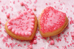 Colorful decorated cookies Stock Images