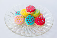 Colorful decorated cookies Stock Image