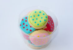 Colorful decorated cookies Stock Photos