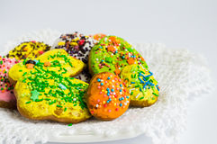 Colorful decorated Easter cookies Royalty Free Stock Photography