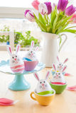 Colorful decorated easter eggs Stock Image