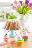 Colorful decorated easter eggs Stock Photo