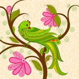 Colorful Decorated Parrot royalty free illustration