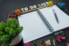 To Do List. Colorful Decorated To Do List Stock Image