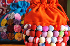 Colorful decorating bag Stock Photos