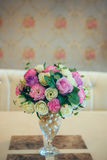 Colorful decoration artificial flower in the vase Stock Photography
