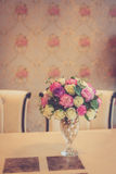 Colorful decoration artificial flower in the vase Stock Images