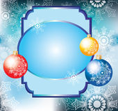 Colorful decoration balls and card for text Royalty Free Stock Photo