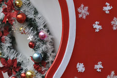 Colorful decoration on Christmas carriage Royalty Free Stock Photo