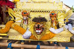 Colorful decoration coffin before the funeral,Nusa Penida, Indonesia Royalty Free Stock Photo