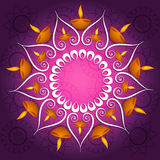 Colorful decoration Diwali diya celebration fantastic glowing Stock Images