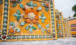 Colorful decoration in temple Wat Pho in Bangkok Stock Photos