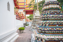 Colorful decoration in temple Wat Pho in Bangkok Royalty Free Stock Images