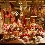 Colorful decorations on the Christmas market iat Strasbourg Royalty Free Stock Images