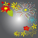 Colorful decorative background Stock Image