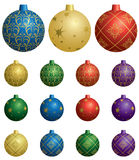 Colorful decorative balls for christmas - vector Royalty Free Stock Photography