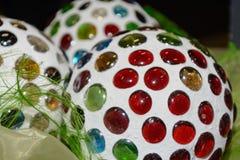 Colorful decorative balls - closeup stock photography