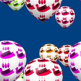 Colorful decorative birds on party balloons seamless pattern Royalty Free Stock Photo