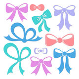 Colorful decorative bows Stock Image