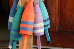 Colorful decorative buoys Royalty Free Stock Photo