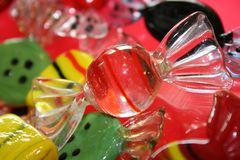 Sweets made of glass royalty free stock image