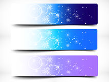 Colorful Decorative Christmas Banner Royalty Free Stock Image