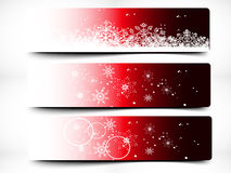 Colorful Decorative Christmas Banner Stock Photos
