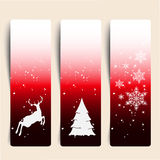 Colorful Decorative Christmas Banner Stock Photo