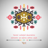 Colorful decorative element on ethnic style Stock Images