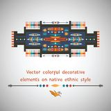 Colorful decorative element on native ethnic style Royalty Free Stock Images