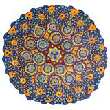 Colorful decorative hand drawn mandala pattern stock image