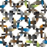 Colorful decorative intertwined origami wallpaper, abstract squa Royalty Free Stock Photography