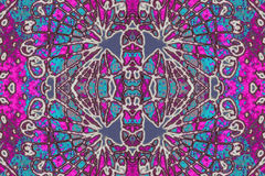 Colorful Decorative Ornament Pattern Stock Photography
