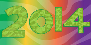 Colorful 2014. A decorative 2014 over a colorful background. Eps10 Stock Images
