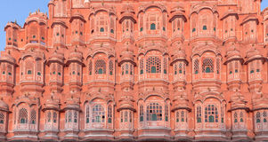 Palace of the Winds in Jaipur, India. Colorful, decorative Palace of Winds in Jaipur, India Stock Images