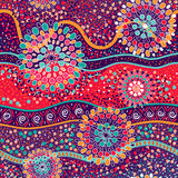 Colorful decorative pattern. Ethnic background. Australian abstract style Stock Image