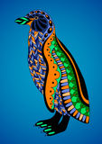 Colorful decorative penguin. Royalty Free Stock Image