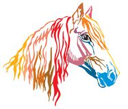 Colorful decorative portrait of Orlov Trotter horse vector illus vector illustration