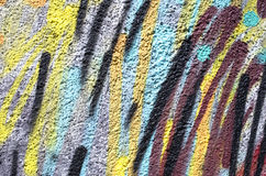 Colorful decorative relief plaster on wall Royalty Free Stock Photos