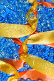Colorful decorative ribbons Royalty Free Stock Images