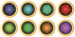 Colorful decorative round buttons Stock Images
