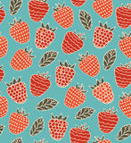 Colorful decorative seamless pattern with berries Stock Photography