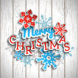 Colorful decorative text Merry Christmas on white Stock Photo