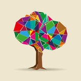 A colorful decorative tree  Royalty Free Stock Image