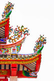Colorful Decoratived Roof of Chinese Pavilion. Colorful Decoratived Roof of Chinese Temple Stock Photography