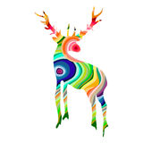Colorful deer illustration Royalty Free Stock Photo