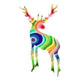 Colorful deer illustration. Deer  on white background. Vector illustration Royalty Free Stock Photo
