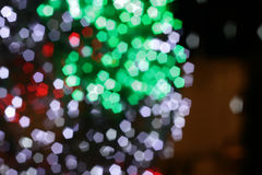 Colorful defocused bokeh lights background. Stock Photos
