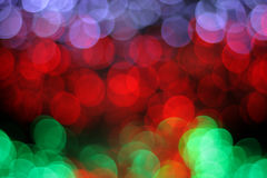 Colorful defocused bokeh lights background. Royalty Free Stock Images
